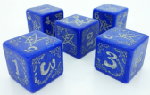 Blue Arkham Horror Blessed Dice Set